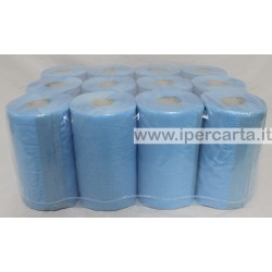 asciugamani a rotolo pura cellulosa blu