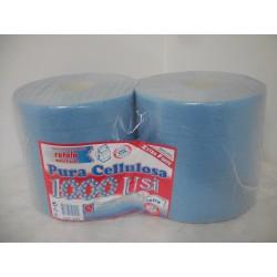 rotoli pura cellulosa colore BLU 2 veli peso del rotolo kg. 2 - peso della confezione kg. 4