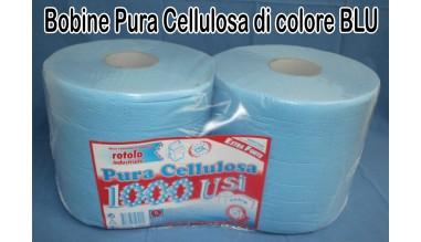 bobine pura cellulosa blu azzurra